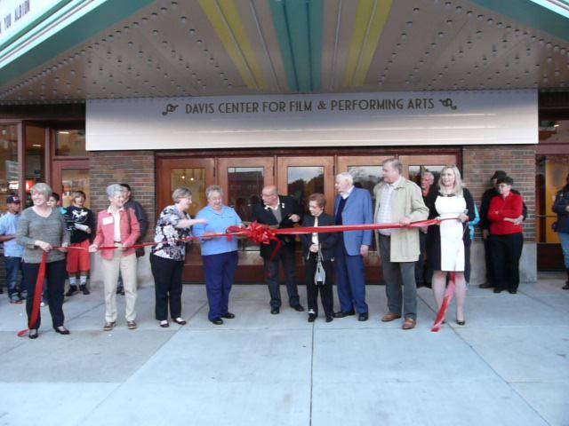 Bohm Theatre ribbon cutting Albion Michigan