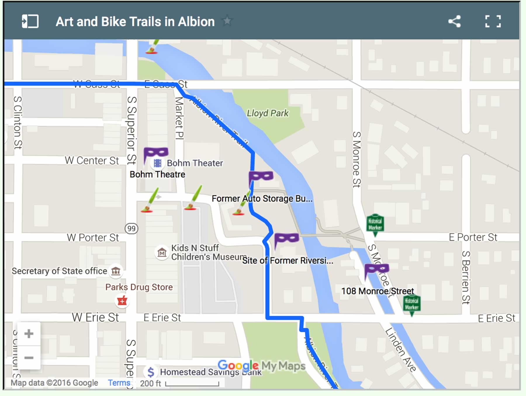 Explore Albion River Trail - Albion, Michigan - General Guide to ...