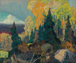 Autumn_Hillside - a painting by Group of Seven artist Franklin Carmichael