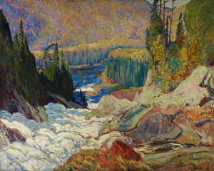 Falls, Montreal River - by Canadian Group of Seven artist J.E.H.