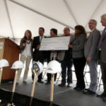 Presentation of a check for - ONE MILLION DOLLARS - from Michigan Economic Development Corporat