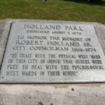 Monument to Robert Holland, Sr. in Holland Park