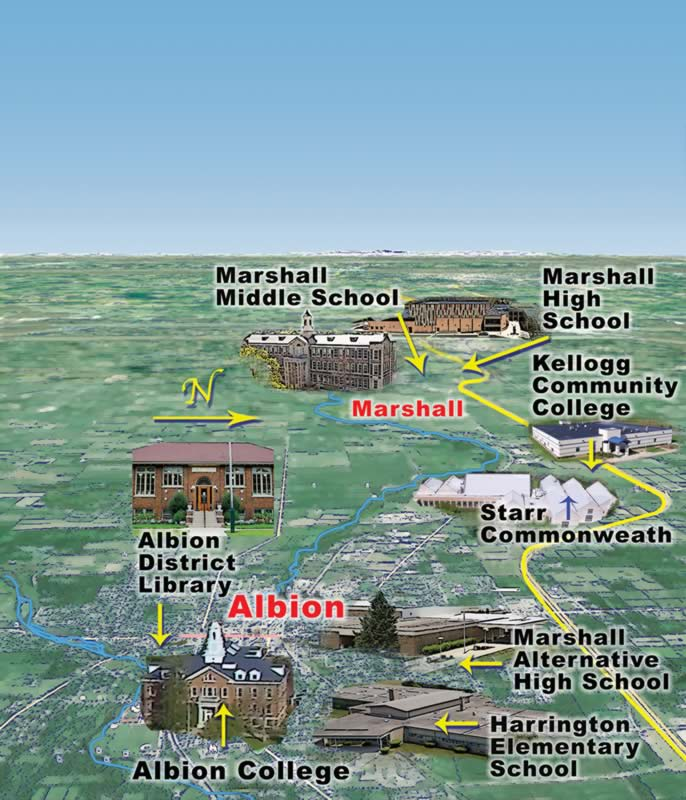 Kellogg Community College Campus Map.Education Albion Michigan General Guide To Arts And Trails