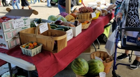 There was plenty of fresh produce also at Stoffer Plaza.