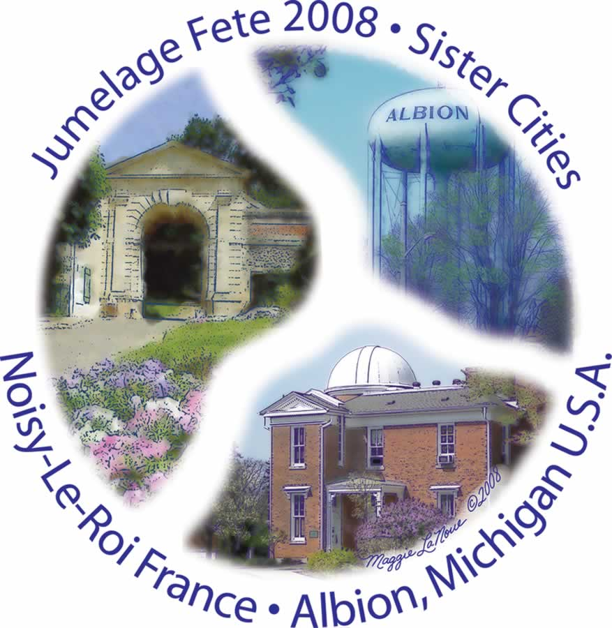 Albion and Noisy-le-Roi Sister City logo