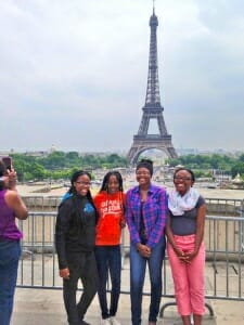 Albion students visiting Paris