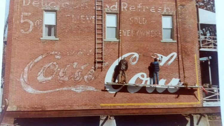 Repainting the Coca Cola Mural