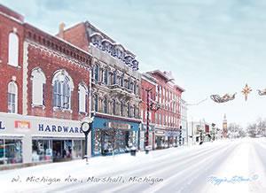 Wagners Block Marshall Michigan