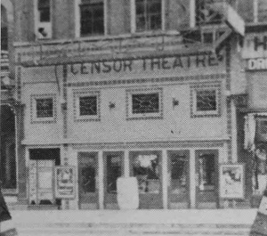 Censor Theatre Early Albion Cinema - by Frank Passic