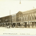 Old Downtown Postcard  - by Frank Passic