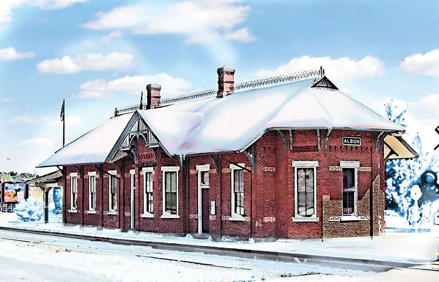 Albion Train Depot - Mowrer Agency