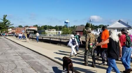Walkers near farmers market Albion Michigan