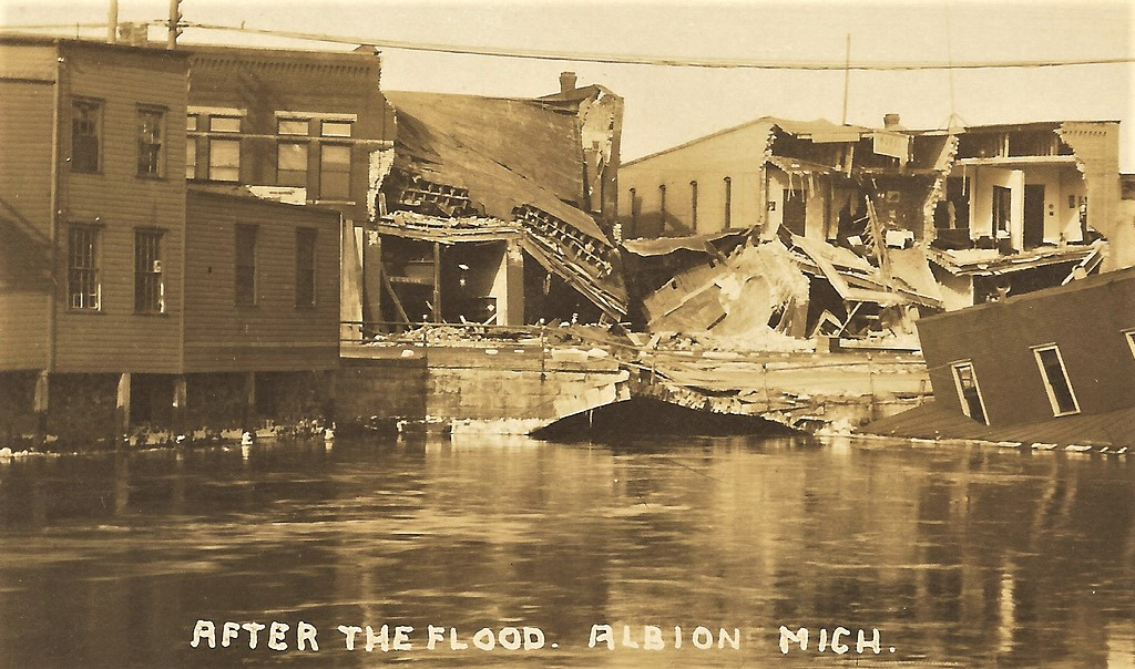 1908 The Great Flood Albion Michigan