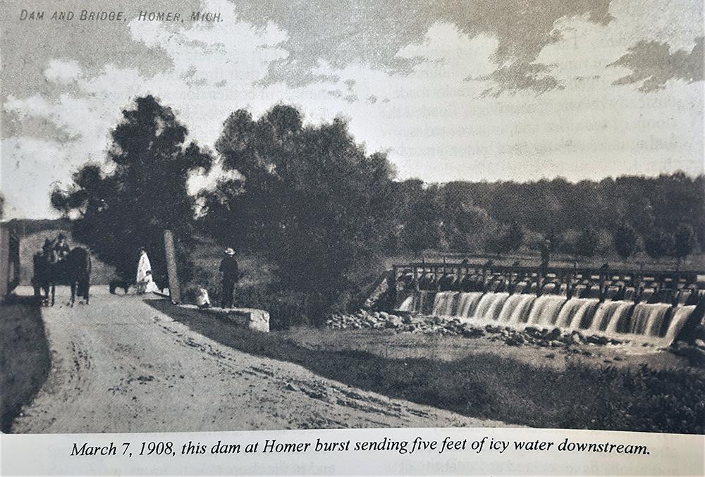 Homer Mill Pond Dam 1908