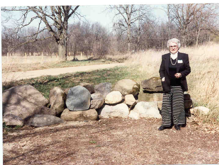 Beverly Cunningham at Falling Waters Park dedication 1994