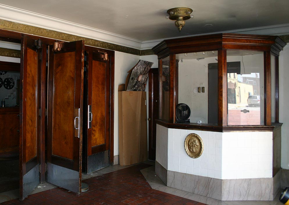 Ticket booth at the Bohm Theatre