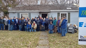 Habitat for Humanity breaks ground for their first veteran-owned home in Albion