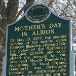 Historical Marker for Mother's Day