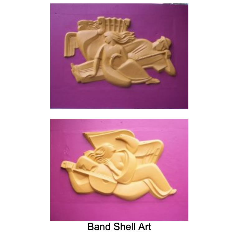 ALBION BAND SHELL SCULPTURE ARTIST DISCOVERED! - by Frank Passic